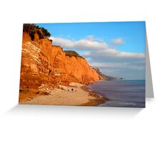 The Red Cliffs of Sidmouth Greeting Card