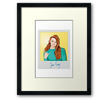 Jean Grey Polaroid  Framed Print