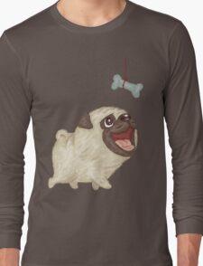 Happy Pug and bone Long Sleeve T-Shirt