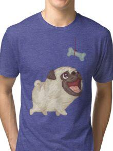 Happy Pug and bone Tri-blend T-Shirt