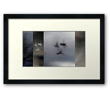Into the Light of the Dark Black Night Framed Print
