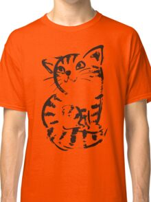 sketch of cat looks up Classic T-Shirt