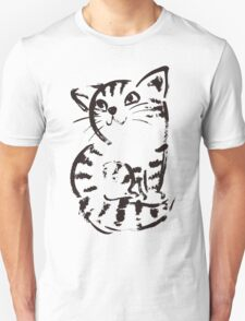 sketch of cat looks up Unisex T-Shirt