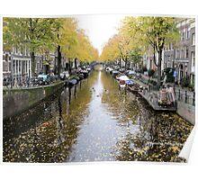 View from the Egelantiersgracht - Prinsengracht Bridge - Amsterdam NL Poster