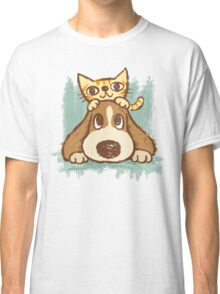 Sketch of kitten and dog Classic T-Shirt