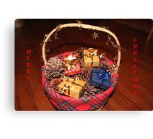 Christmas Basket Canvas Print