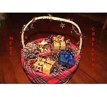 Christmas Basket Photographic Print