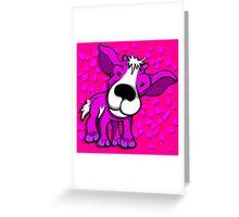 Kid Goat Pink Design Greeting Card