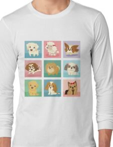 Many poses of puppies Long Sleeve T-Shirt