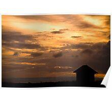 Dusk at Hunstanton, Norfolk. Poster