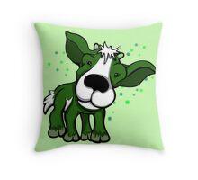 Kid Goat Green  Throw Pillow