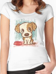 Sitting puppy Women's Fitted Scoop T-Shirt