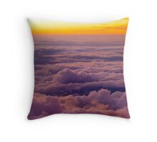 Above the clouds. Throw Pillow