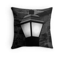 Lamp Post at Night Throw Pillow