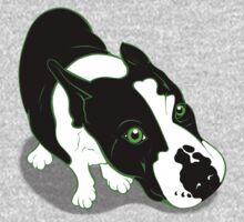 Mr Bull Terrier Green One Piece - Long Sleeve