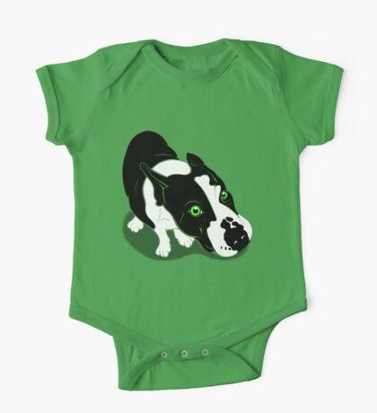 Mr Bull Terrier Green One Piece - Short Sleeve