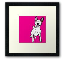 Excited Bull Terrier  Framed Print
