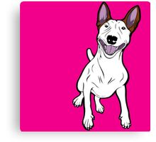 Excited Bull Terrier  Canvas Print