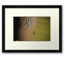 NY Yankees Fan Framed Print