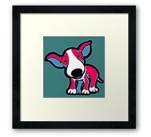 EBT Puppy Pink , White and Teal  Framed Print