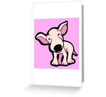 Cute EBT Puppy Baby Pale Pink  Greeting Card