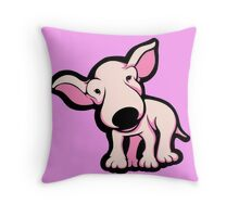 Cute EBT Puppy Baby Pale Pink  Throw Pillow