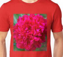 hot pink peony flower Unisex T-Shirt