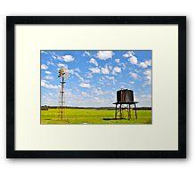rainbow farm Framed Print