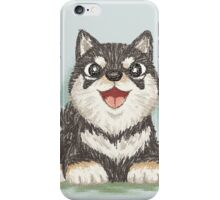 Black shiba dog iPhone Case/Skin
