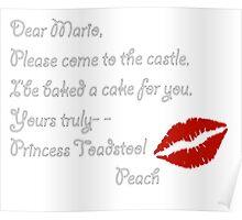 Dear Mario, From Super Mario 64 Poster