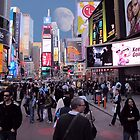 Times Square Tourists  by David Dehner