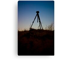 Tripod on the Dune Canvas Print