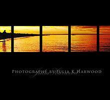 Sunset on black ~ Signature Series by Julia Harwood