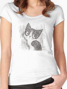 Portrait of a kitten Women's Fitted Scoop T-Shirt
