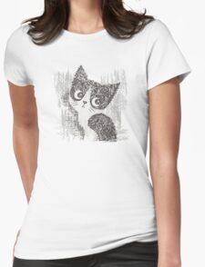 Portrait of a kitten Womens Fitted T-Shirt