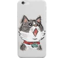 Cat wearing bells iPhone Case/Skin
