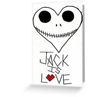 Jack Is Love Greeting Card