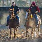 Frosty Morning Riders by Clare Colins