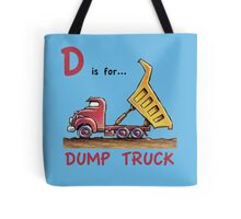 D is for Dump Truck Tote Bag