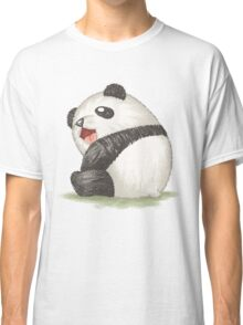 Happy panda sitting Classic T-Shirt