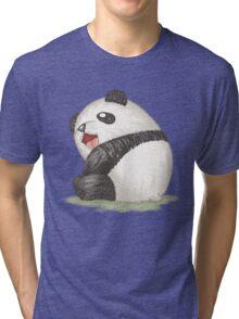 Happy panda sitting Tri-blend T-Shirt