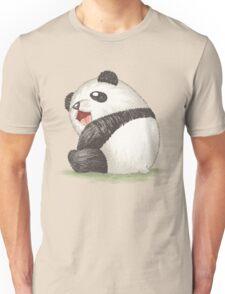 Happy panda sitting Unisex T-Shirt