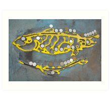 buddha footmark Art Print