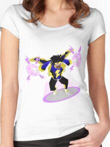 Detective Comics Presents: Superhero Static Shock! Women's Fitted Scoop T-Shirt