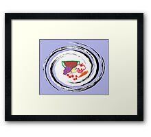 Healthy Snacks, Well Almost Framed Print