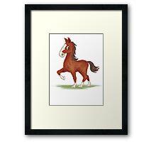 Horse is walking Framed Print
