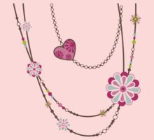 NECKLACE :: funky flowers 1 T-Shirt