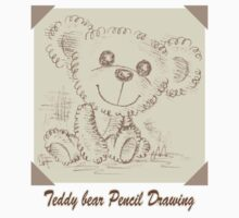 Teddy bear Pencil Drawing by Toru Sanogawa