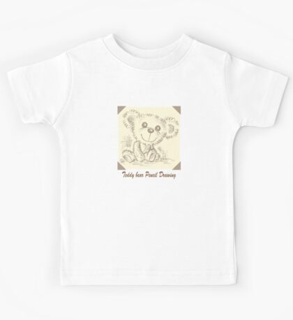 Teddy bear Pencil Drawing Kids Clothes
