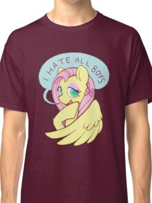 Fluttershy (I HATE ALL BOYS) Classic T-Shirt